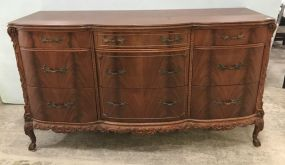 Antique French Walnut Triple Dresser