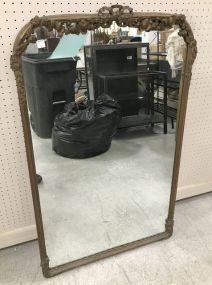 Antique French Walnut Wall Mirror
