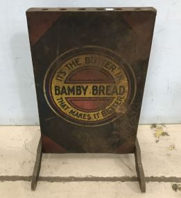 Bamby Bread Advertisement Broom Stand