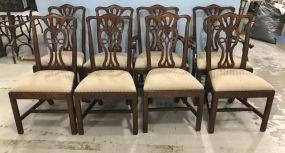 Eight Henredon Chippendale Style Dining Chairs