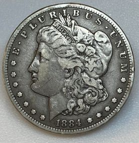 Rare 1884 S Morgan Silver Dollar