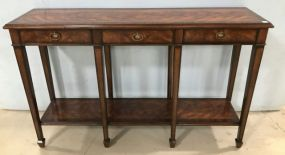 Theodore Alexander Burl Finish Console Table