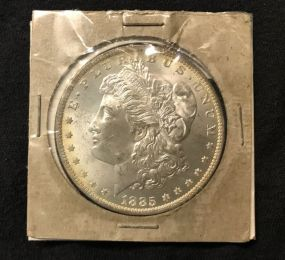 1885 Morgan Silver Dollar O