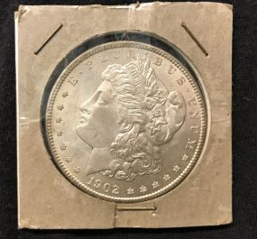 1902 Morgan Silver Dollar O