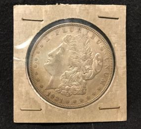 1921 Morgan Silver Dollar D