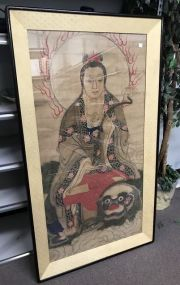 Large Antique Chinese Buddha Painting