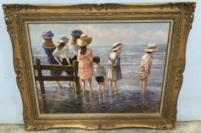 E J CyGne Oil Portrait Painting of Children