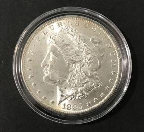 1883 Morgan Silver Dollar O Mark