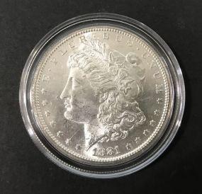 1881 Morgan Silver Dollar S Mark