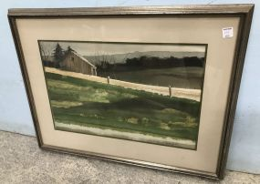 Landscape Watercolor by Mike Levanway 1975