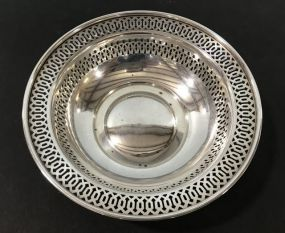 Sterling #202 Nut Bon Bon Reticulated Bowl