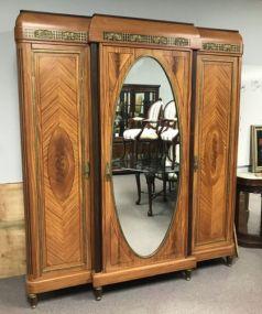 Large Three Door Beirdermeitr Neoclassic Wardrobe
