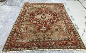 Aryana/Pakistan Hand Woven Wool 5' x 8' Area Rug