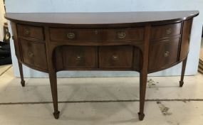 Large Early 1900's Federal Style demilune Buffet