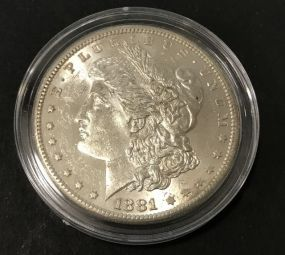 1881 Silver Morgan Dollar S