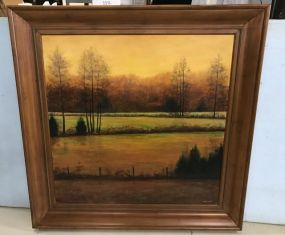 Large Alfred Nichols Oil Painting