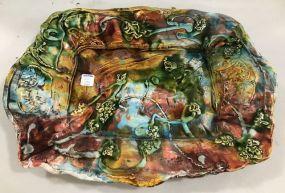 Hand Made Majolica Style Platter