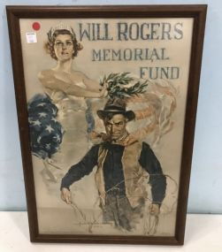 Will Rogers Memorial Fund Lithograph Poster