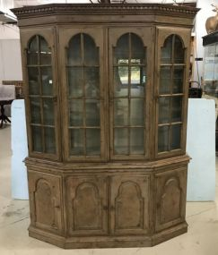 Harden Furniture Company Chippendale Distressed China Cabinet