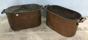 Two Vintage Copper Buckets