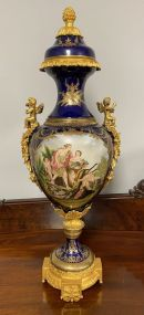 Sevres Style French Porcelain Urn