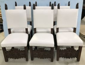 Six Antique Country French Dining Chairs