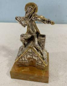 .925 Sterling Fiddler Statue