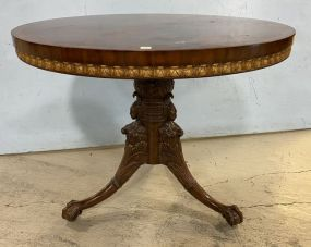 Nice French Antique Reproduction Foyer Pedestal Table