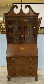 Skandia Furniture Company Chippendale Mahogany Secretary