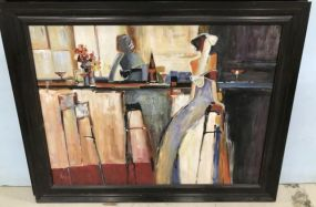 Bar Scene Painting by Rosemary Nix