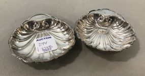 Pair of S & S Sterling Shell Nut Dishes