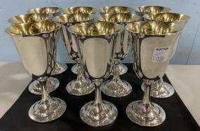 11 International Sterling Goblets