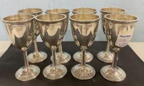 8 International Sterling Goblets 4 3/4