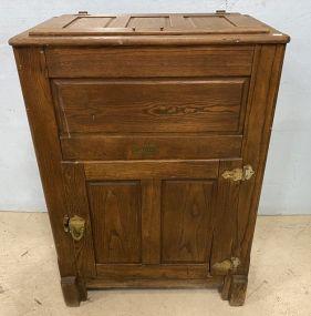 Antique Hoosier Oak Ice Box Cabinet