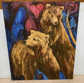 Painting of Bears by Lynn Light