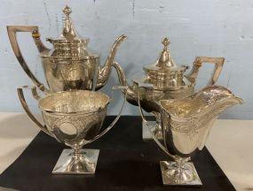 Wallace Sterling Art Nouveau  Tea Set
