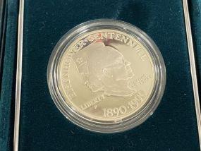 United States Eisenhower Centennial Silver Dollar