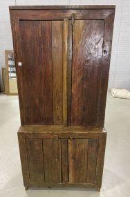Antique Primitive Step Back Cabinet