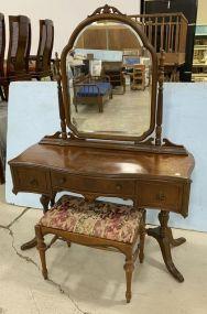 Phenix Furniture Company Vintage Mahogany Vanity