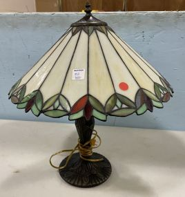 Reproduction Stain Slag Glass Style Table Lamp