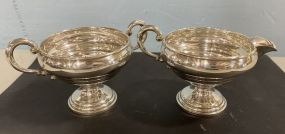Crown Weighted Sterling Sugar and Creamer