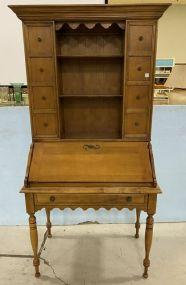 Maddox Maple Secretary Bookcase