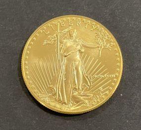 1986 $50 Gold 1 Oz. American Eagle Proof