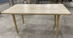 Primitive Style Painted Dining Table