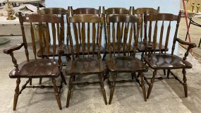 Ethan Allen Pine Windsor Style  Dining Chairs