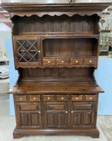 Ethan Allen Pine Farm House China Hutch