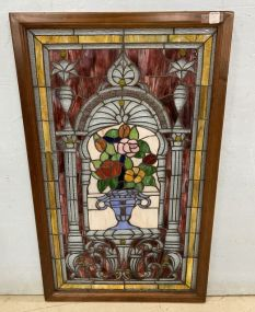 Stain Glass Framed Panel