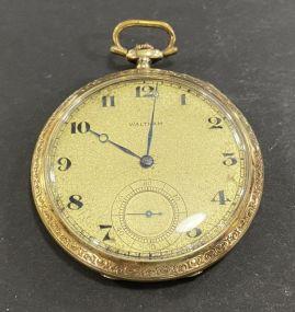 1915 Waltham 14K Open Face Pocket Watch