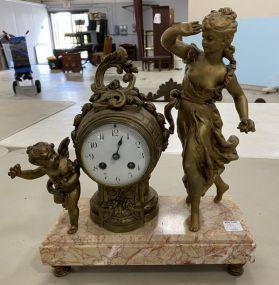 Vintage Figural Mantle Clock