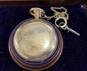 Illinois Watch Co. Pocket Watch With Case